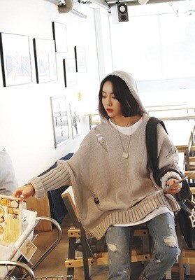 [LAGIRL]로이칩후드-knit