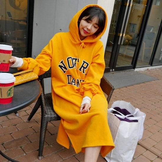 リプハプLIPHOPスポーティーロングワンピース 綿ワンピース/ 韓国ファッション