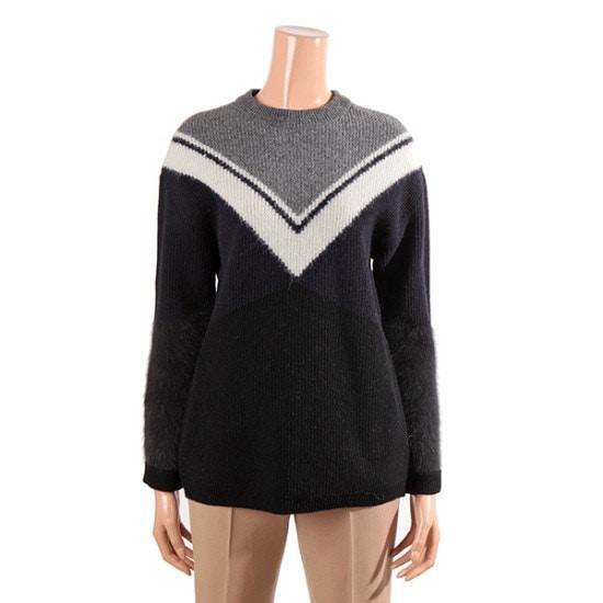 ナイスクルラプスタイルリーなラウンドニートN164KSK048 パターンニット/ニット/セーター/韓国ファッション