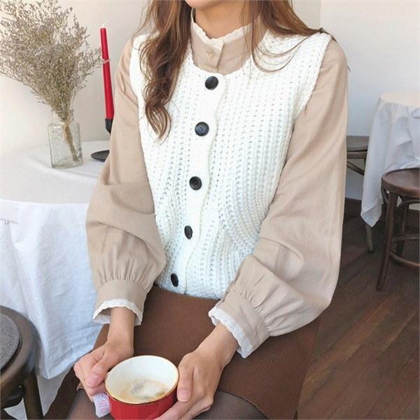 コミニットベストnew 女性ニット/ニットベスト/韓国ファッション