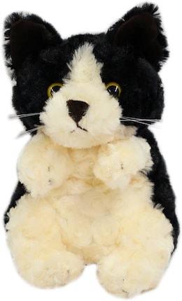 ハンドパペット ネコ ホワイト&ブラック