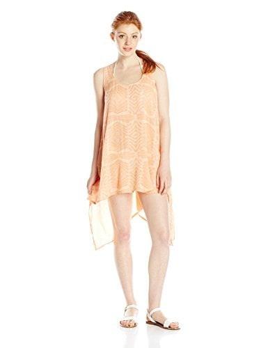 Rip Curl Juniors Solstice Tank Dress, Peach, Medium