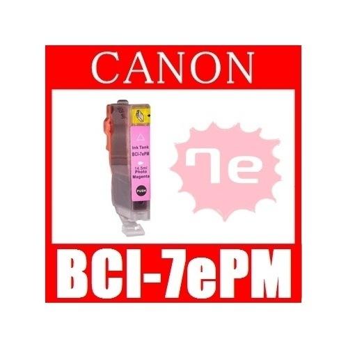 【キャノン BCI-7ePM(フォトマゼンタ) 互換インクカートリッジ】 Canon 即日発送/安心1年保証 関連:BCI-9BK BCI-7eBK BCI-7eC BCI-7eM BCI-7eY B
