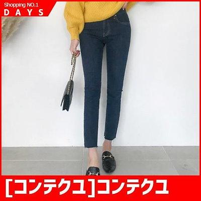 [コンテクユ]コンテクユデイリー、中青(チュンチョン)の日付のデニム75013 /パンツ/デンパンツ/韓国ファッション