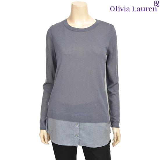 オリビアローレンの裾シャツマッチングロング・ニットVOCBLSF746153 ロングニット/ルーズフィット/セーター/韓国ファッション