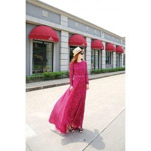 フィッシュテールドレス シフォンドレス ワンピース ドレス スカート 豹柄 アニマル tm131