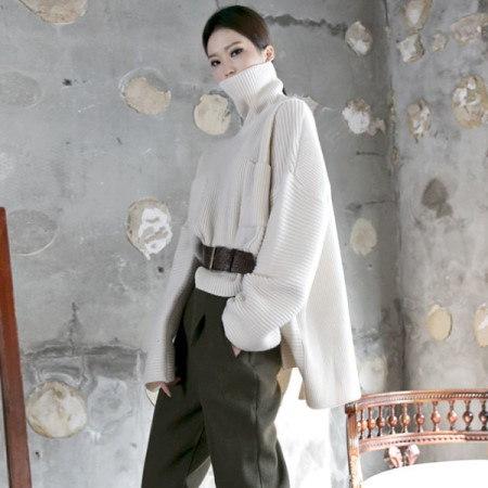 【ディントゥ] E1690バイセルバックひらきウールオンバルニットkorea fashion style