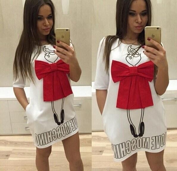 ちょう結びファッション カジュアル ドレス ドレス
