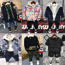 韓国ファッション 子供服 セットアップ パーカー ニット パーカー ズボン 人気デザイン集め 裏起毛ダウンコート アウター コート ジャケット 冬新品