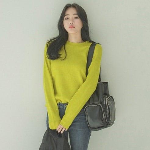 【WhiteFox]デイリー人生ニットニットkorea fashion style free shipping