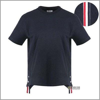 [のトム・ブラウン]三線シラサギて半袖ティー19SS FJS013A 00050 415 /ソリッド/無地Tシャツ/ Tシャツ/韓国ファッション/