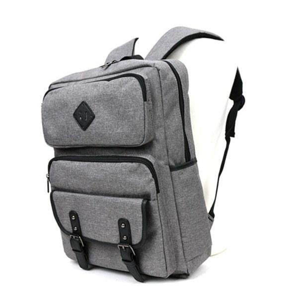 [韓国直送] 【3556】ツーポケットトゥベルト装飾ジェイフォードカジュアルバックパック男性のバックパック女性バックパック学生カバン