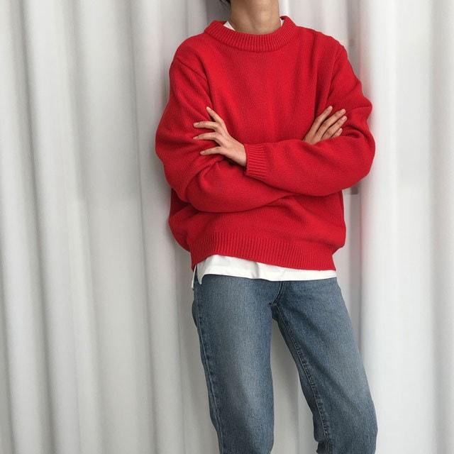 [ラルム】ホーリーRニット5col korea fashion style