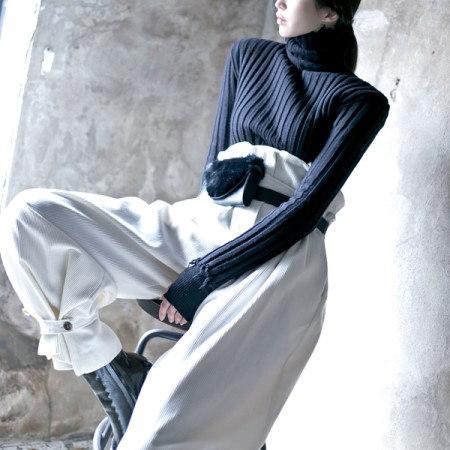 【ディントゥ] E1691レムドゥダメージ段ボールニットトップkorea fashion style