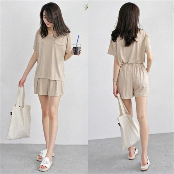 hlr06ログティーシャツ・パンツセットのツーピースティーシャツ・パンツセットnew 女性ニット/カーディガン/韓国ファッション
