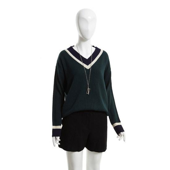 ジェイジェイジコトゥ小売配色きれいなブイネクニートGH1N1KTZ1 ニット/セーター/韓国ファッション