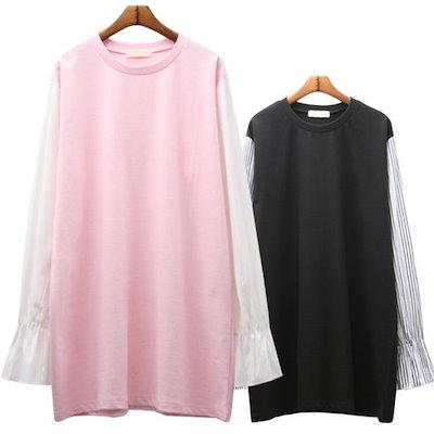 ★韓国商品c065★(BBNY Girl)4659:ヒット配色M TシャツM♥多様で素敵な女性服ファッション♥