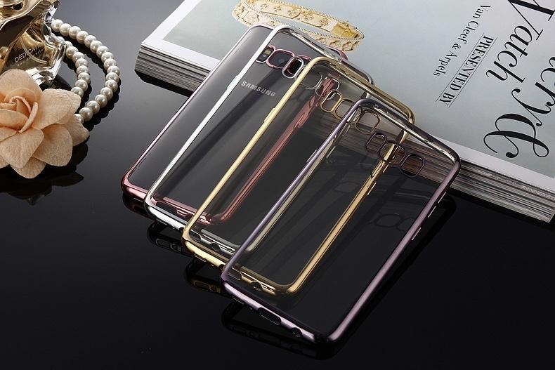 Samsung Galaxy S8+ SC-03J/SCV36/S8 SC-02J用用TPUケース/サムスン ギャラクシーS8ソフト保護カバー/クリアケース/メッキタイプ保護カバー【F714F712