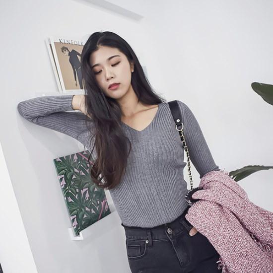 ブルランチョブイネククヮベギニットts01656 ニット/セーター/ニット/韓国ファッション