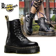 [Dr. Martens] 15265001 JADON 8 ホールブーツ ジェイドン 厚底 ブーツ レザーシューズ ブラック 韓国ファッション レディース メンズ ユニセックス