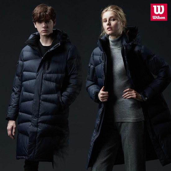 ウィルソンウィルソン男女共用モンスターロングパディングブラックのベンチコート / パディング/ダウンジャンパー/ 韓国ファッション