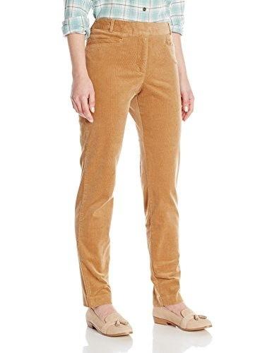 Pendleton Womens Petite Casey Stretch Corduroy Pants, Camel, 10