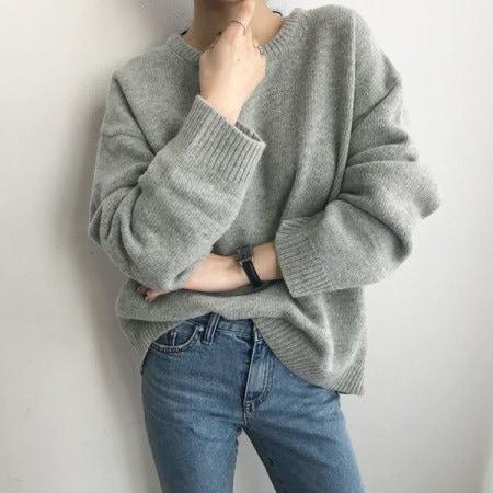 プラトンレムスウルニットKorean fashion style