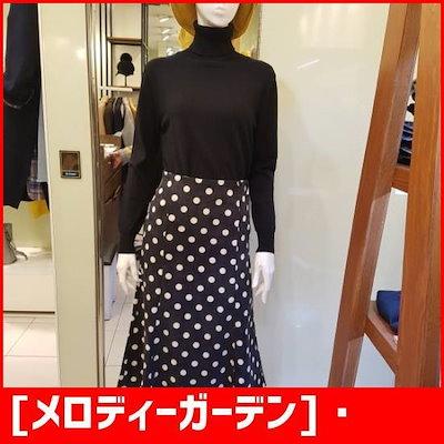 [メロディーガーデン]・ドットコーデュロイスカートM8F9S11 /スカート/Hラインスカート/ 韓国ファッション