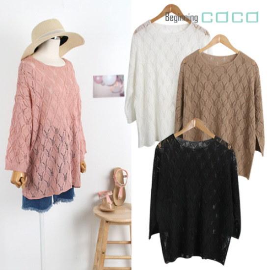 ビギニングココルーブル網ニット ニット/セーター/ニット/韓国ファッション