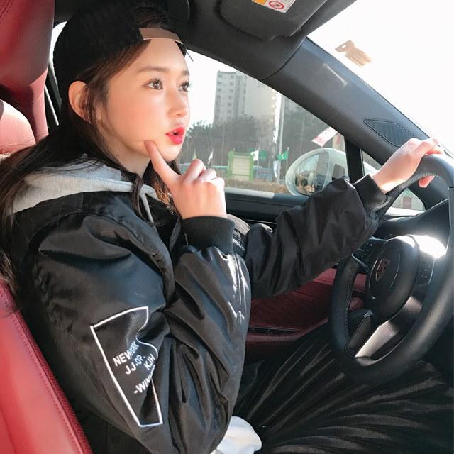 (フード着脱)ダブルジェイキルティング航空パディングkorean fashion style