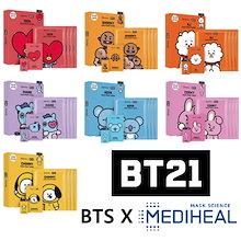 [BT21]BTS  フェイスポイントマスク / Mediheal / メディヒール / マスクパック4シート+ポストカード+ブックマーク