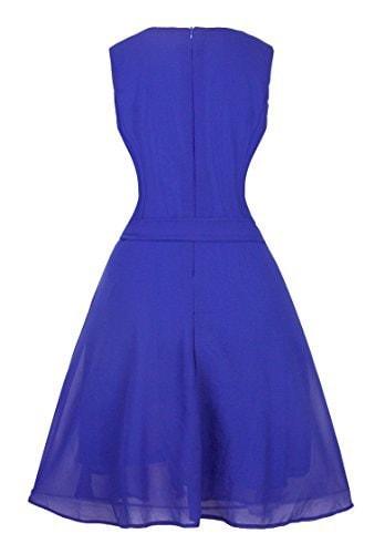 Angerella Women s Retro Vintage Dresses Pure color Evening Party Dress