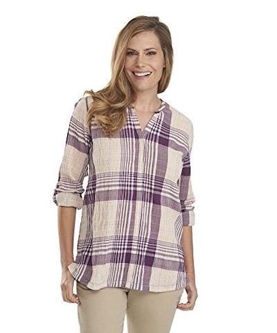 Woolrich Womens Spring Fever Convertible Shirt, Plum Purple, X-Small