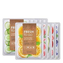 トニーモリー(Tonymoly) [10+10] フレッシュトゥーゴーマスクシート 22g - 8種(タイプ) : 栄養をたっぷりと与える新鮮な野菜と果物の爽やかさを肌に伝えます ::韓国コスメ,ト