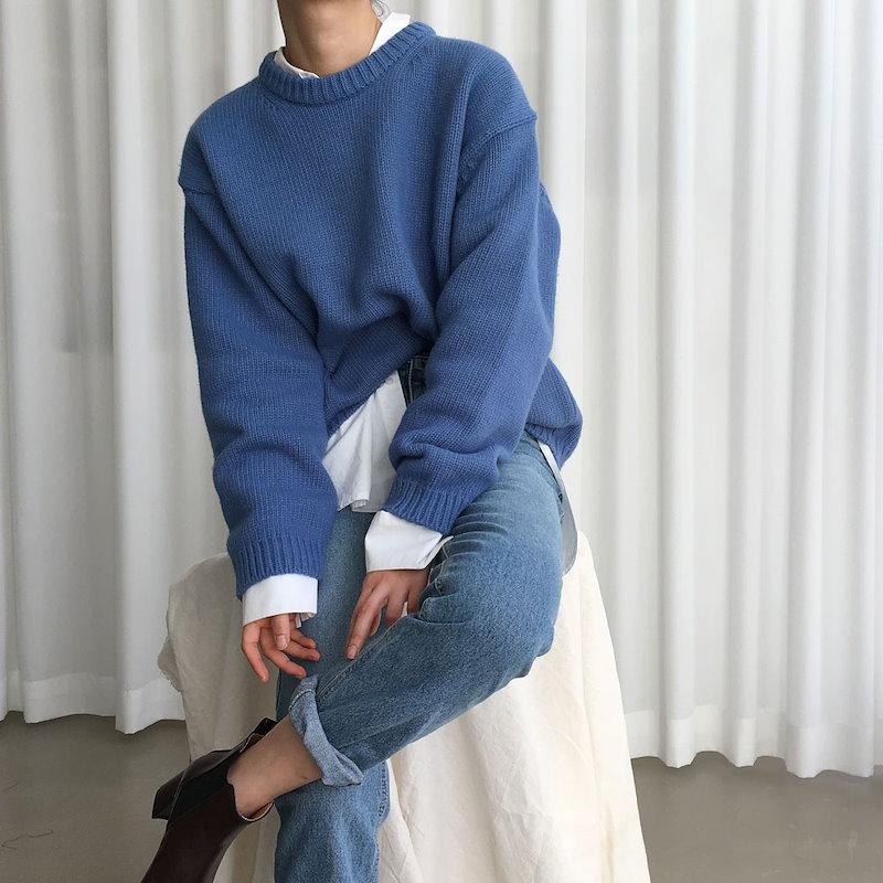 [ラルム】バブルニット4col korea fashion style