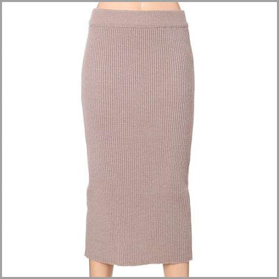 [オチョク]中間ゴルジの後ろの開けたことおよびニットのスカート(715-76131) /スカート/ロングスカート/ 韓国ファッション