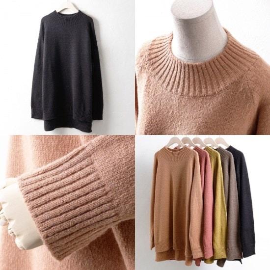 ウィスィモールIWアルパカロングニトゥティRM17125col66110size ニット/セーター/ニット/韓国ファッション