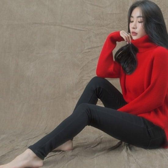 ホワイト・フォックスデイリーの横向いたことポルラニトゥ ニット/セーター/タートルネック/ポーラーニット/韓国ファッション