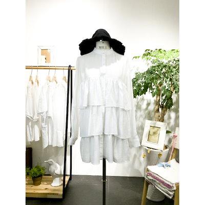 スタジオホワイトトリプルシャーリングワンピースMC715S589 面ワンピース/ 韓国ファッション