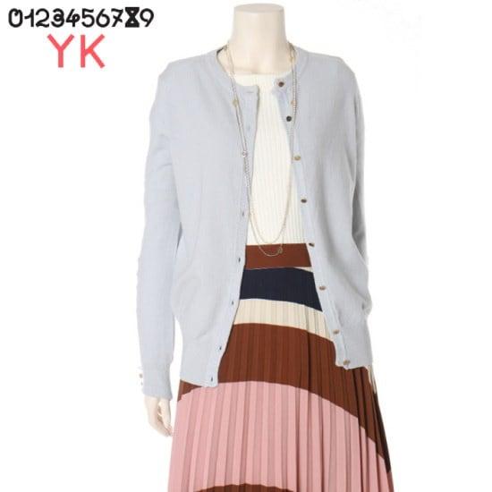 ワイケー襟章ボタンカディゴンニートY171N913 ニット/セーター/タートルネック/ポーラーニット/韓国ファッション
