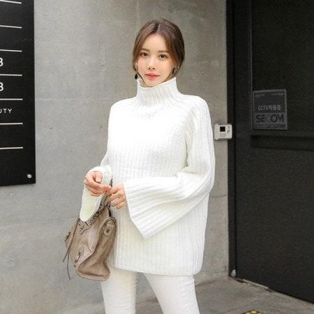 [Tom n Rabbit]ジェノト段ボールニット編みニットルーズフィットポーラニットベーシックkorean fashion style