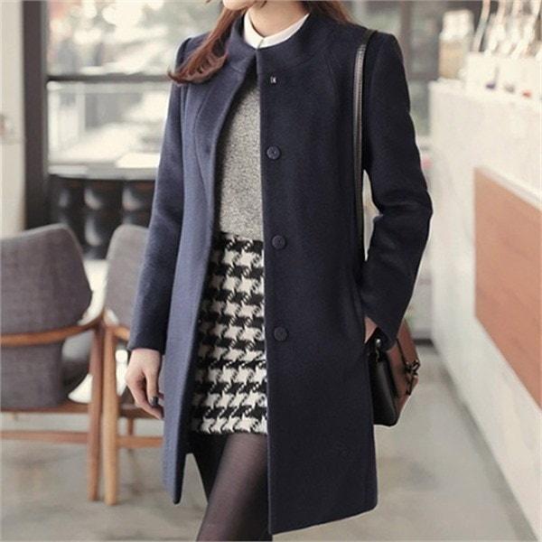 無料配送XLまでロンドンベーシックCOATCLGDC04 女性のコート/ 韓国ファッション/ジャケット/秋冬/レディース/ハーフ/ロング/