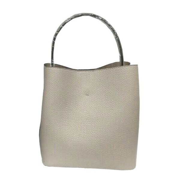 柔らか素材のダブルポケット2wayトート〔Mサイズ〕 グレイ