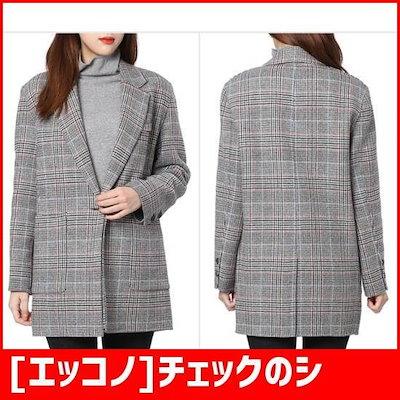 [エッコノ]チェックのシングルジャケットATJA8D101 / パディング/ダウンジャンパー/ 韓国ファッション
