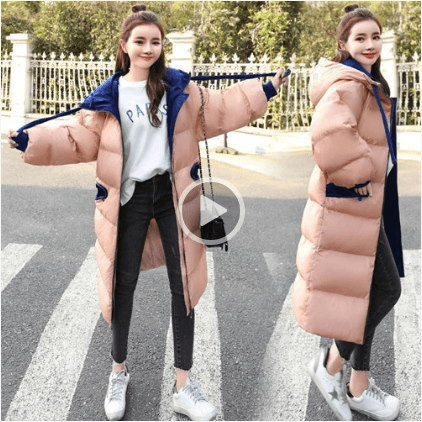 カジュアルな長袖ファッションの傾向の長いセクションで純粋な甘いジップコットン/綿2017冬