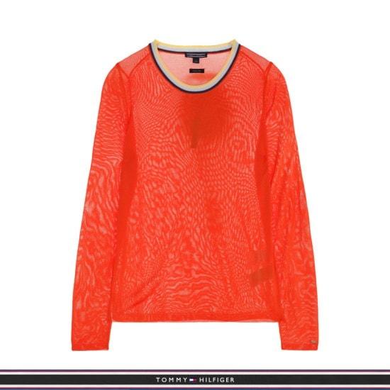 トミー・ヒルフィガー女性シンプル配色ニットセーターTFMR2WOE12A0R40 ロングニット/ルーズフィット/セーター/韓国ファッション
