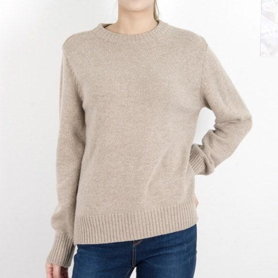 クッキーセブンP5645ソウル混紡ラウンドネックベーシックニート4color ニット/セーター/ニット/韓国ファッション