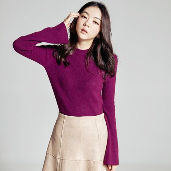 メグジェイMAGJAYフレアカフスニートJ92PNT108 ニット/セーター/韓国ファッション