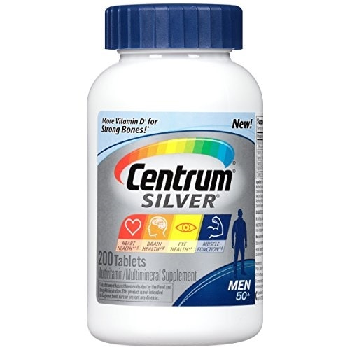 (セントラム ビタミン) Centrum Silver Men Multivitamin / Multimineral Supplement Tablet Vitamin D3 Age 50+