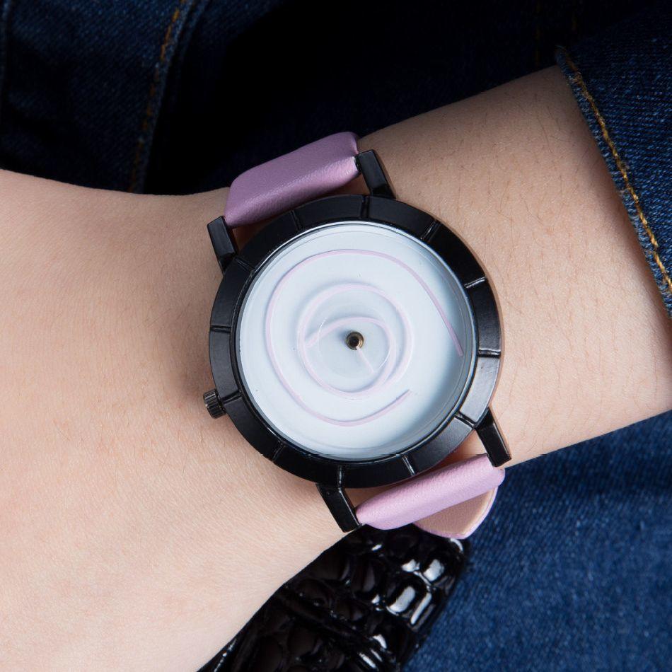 【一部即納】【ゲリラSALE】腕時計 アナログ ラウンドウォッチ 渦デザイン 男女兼用 ユニセックス ペアウォッチ 秒針 ユニーク 個性的 面白い お◎本日注文12月29日頃出荷予定